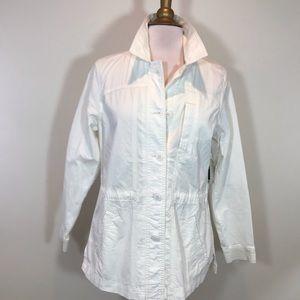Eddie Bauer Twill White Jacket
